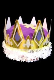 10in Tall Purple Royal Queen Crown