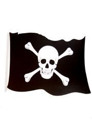 18in Wide x 12in Tall Pirate Paper Flag Cutout