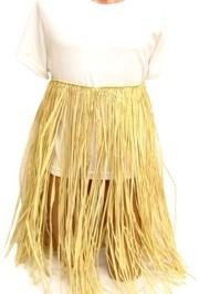 33in Waist x 31in Length Natural Raffia Hula Skirt Adult