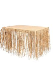 9ft x 29in Natural Raffia Luau Table Skirt