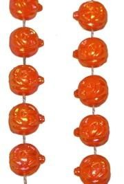 33in 8mm Iridescent OrangeJackal Lantern/ Pumpkin Beads