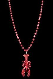 Red Crawfish/Lobster/Seafood Mardi Gras Necklace