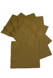 6.5in x 6.5in Gold Luncheon Napkins