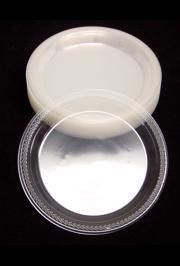 9in Clear Heavy Duty Plastic Plates