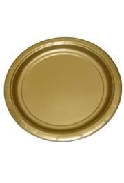 9in Gold Heavy Duty Plastic Plates