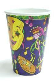 9oz Mardi Gras Mania Paper Cup