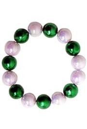 12mm Round Metallic Green/ White AB St Patricks Bracelets