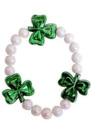 Costume jewelry with the St. Paddy's Day theme is fun for parties and parades. Our line of St. Patrick's Day jewelry includes St. Patrick bracelets, clover bracelets, St. Patrick's Day brooches, shamrock pins, and St. Paddy's Day buttons.