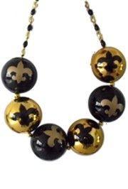 Bigger Balls Necklace: Fleur-De-Lis