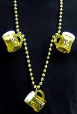 Three Beer Mugs Necklace