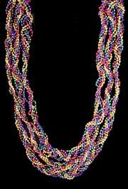 42in 6pc Assorted Metallic Braided Beads