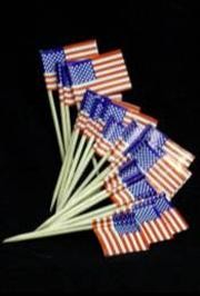 2.5in Red/ White/ Blue American Flag Toothpicks