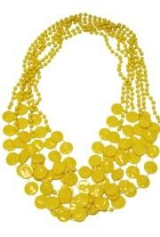 7mm 33in Yellow Ribbon Beads