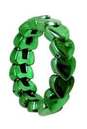 Metallic Green Heart St Patricks Bracelets
