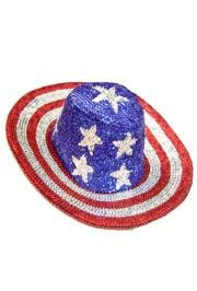 Sequin Cowboy Hat USA