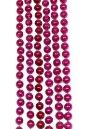 7mm 42in Hot Pink Beads