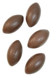 4in Brown Plastic Football