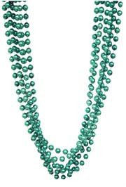 72in 12mm Round Metallic Green Beads