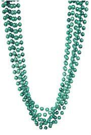 72in 12mm Round Metallic Green Beads