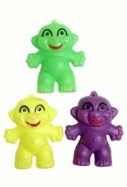 4in x 3in Purple Green Yellow Plastic Fat Boy Brights