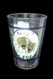 2 1/4in Tall Plastic Mardi Gras Shot Glass