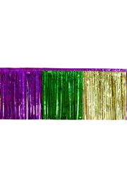 15in x 10ft Purple/ Green/ Gold Fringe