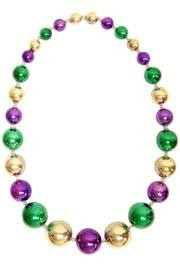 Purple/ Green/ Gold Big Beads Necklace