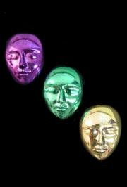 1.3in x 1in Medium PGG Mix Face Make Your Own Deco Or Jewelry