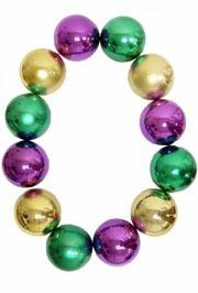 48in 100mm Purple/ Green/ Gold Bead