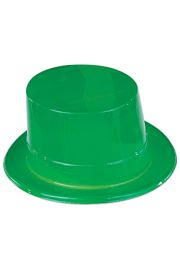 5in Tall Green Plastic Top Hat