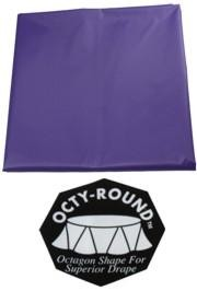82in Purple Round Heavy Duty Plastic Purple Tablecovers