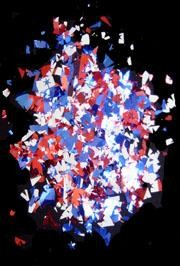 1LB Red/ Blue/ Silver Confetti