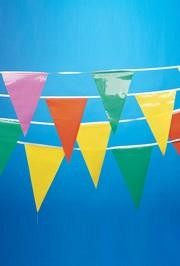 100ft x 12in x 18in Multicolor Pennants/ Banners