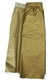 14ft x 29in Gold Plastic Table Skirts