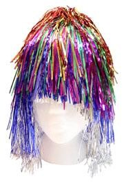 14in Metallic Multi Color Tinsel Wig Mylar
