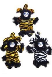 8in x 3in Animal Print Sand Bag Cat Doll