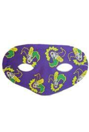 6.5in x 3.5in Mardi Gras Jester Half Mask