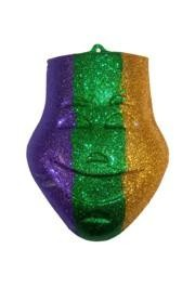 12in x 10in Purple/ Green/ Gold Comedy Glitter Mask Wall Plaques