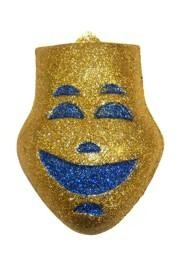 12in x 10in Glitter Gold Comedy Face Wall Plaques