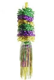 21in Purple/ Green/ Gold Twist Mobile w/ Fringe