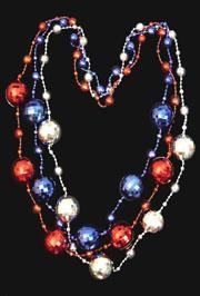48in 40mm Metallic Red/ Blue/ Silver Jumbo Disco Ball Shape Beads