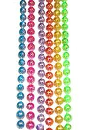 7mm 33in 6 Assorted Clear AB Beads