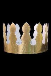 4in Gold Foil Crown