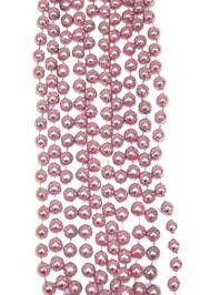 7mm 33in Metallic Baby Pink Beads
