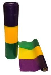 300ft x 15in Purple/ Green/ Gold Plastic Decorating Wide Streamer/Table Runner