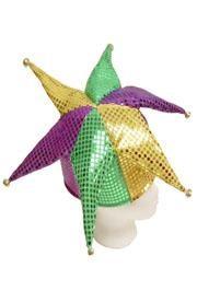 Mardi Gras Shiny Sequin Jester Hat