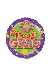 18in Mardi Gras Mylar Balloons