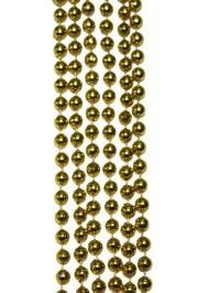 7mm 33in Round Metallic Gold Mardi Gras Beads