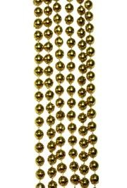 7mm 42in Metallic Gold Beads