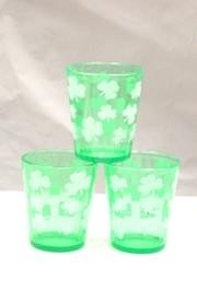 2.5in x 2in dia Shamrock/ Clover Plastic Shot Glass